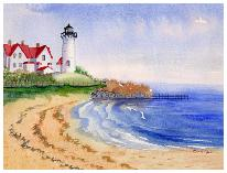 Watercolor  painting of Nobska lighthouse